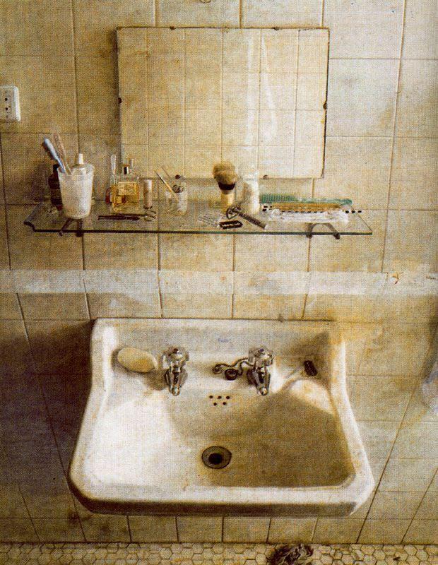 Antonio López - 1967 El lavabo y el espejo