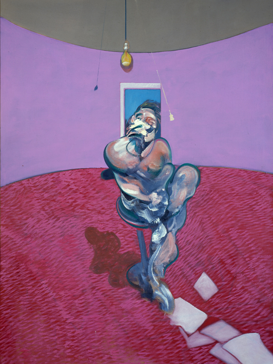 Bacon - 1966 Retrato de George Dyer hablando