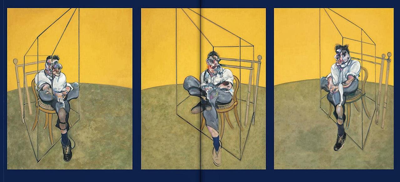 Bacon - 1969 Tres estudios de Lucian Freud