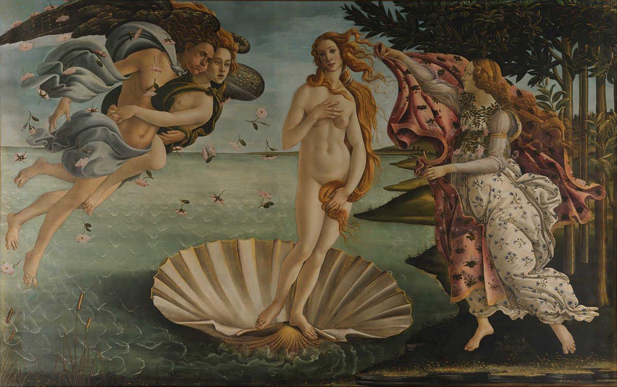 Botticelli - 1486 El nacimiento de Venus
