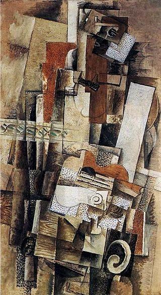 Braque - 1911 Hombre con guitarra