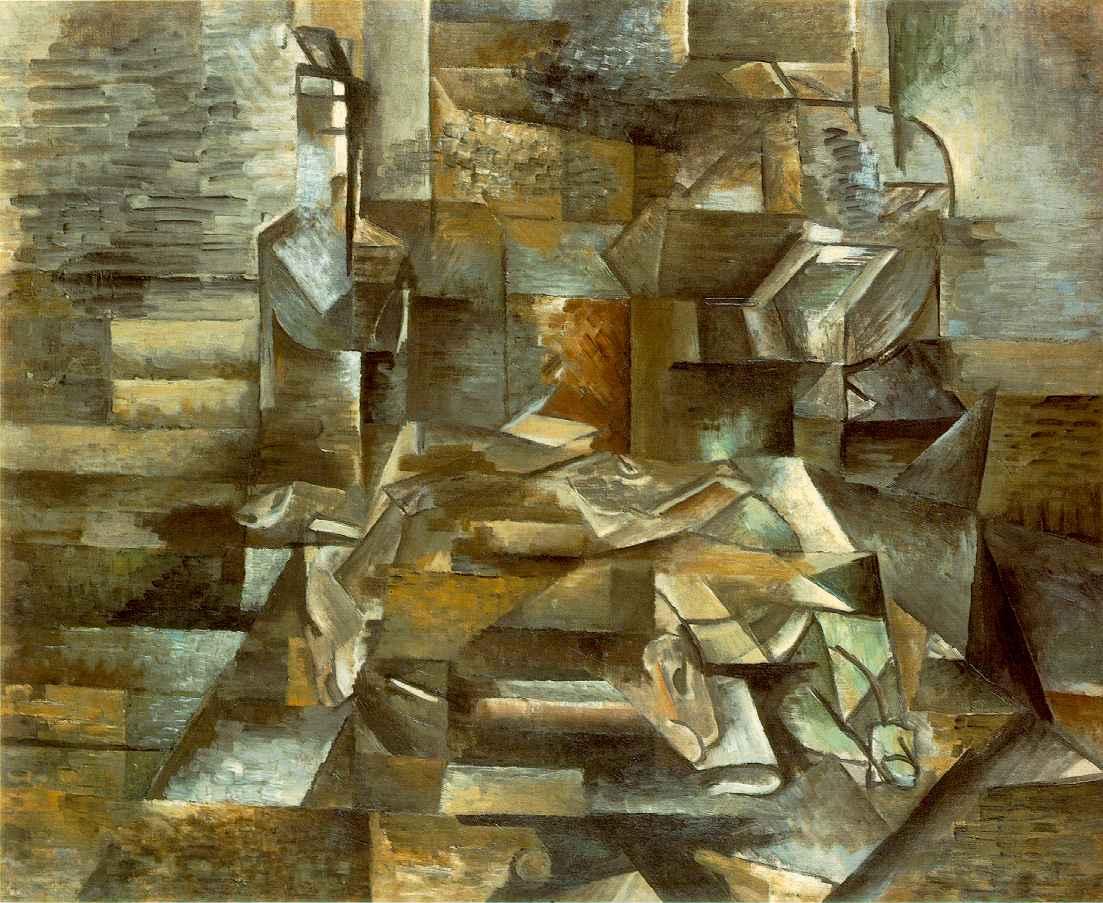 Braque - 1912 Botella y peces