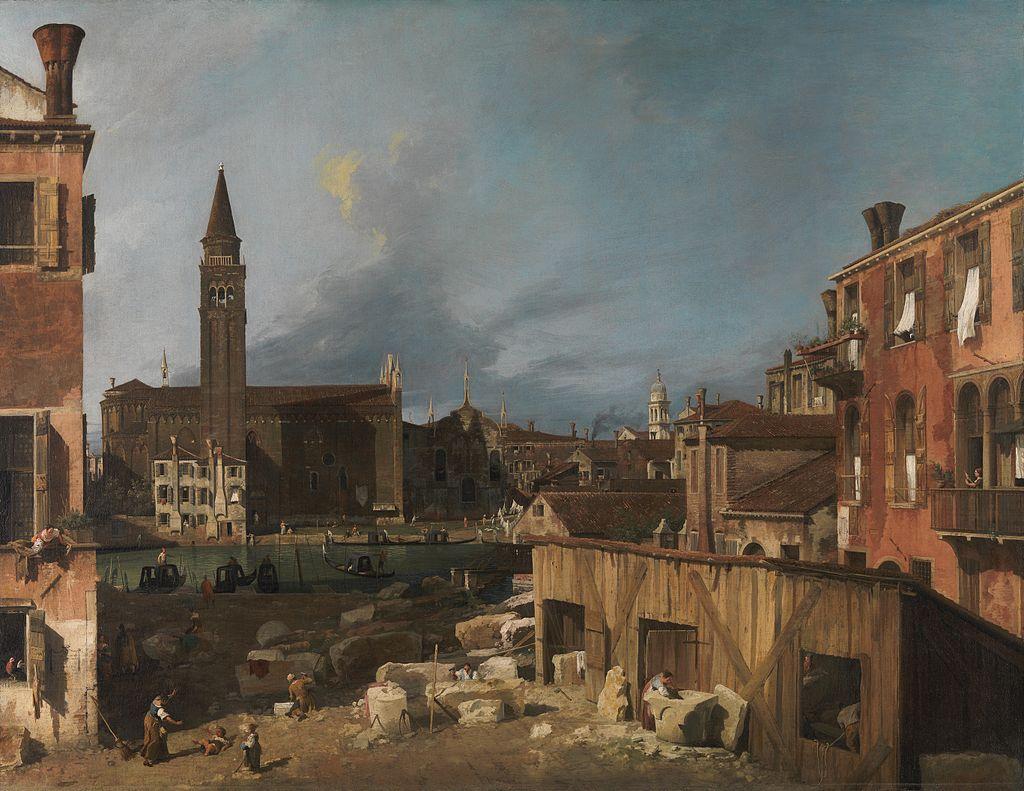 Canaletto - 1725 El patio del cantero