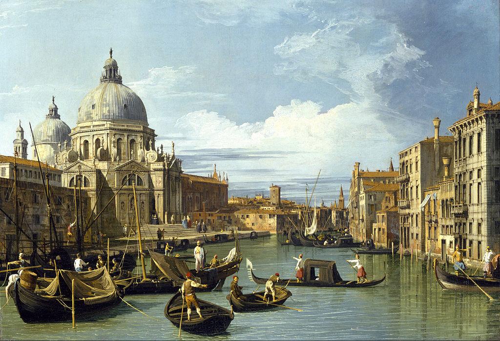 Canaletto - 1730 El gran canal y la iglesia de Santa María de la Salud