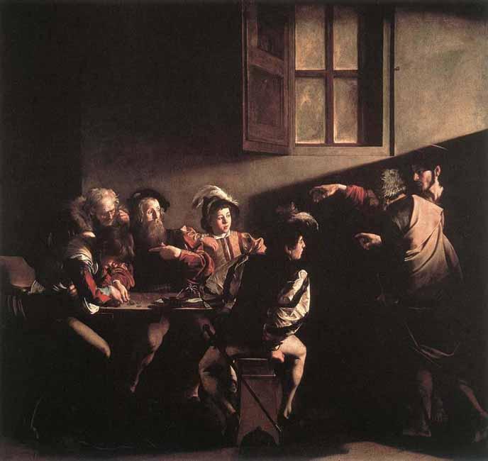 Caravaggio - 1600 La vocación de San Mateo