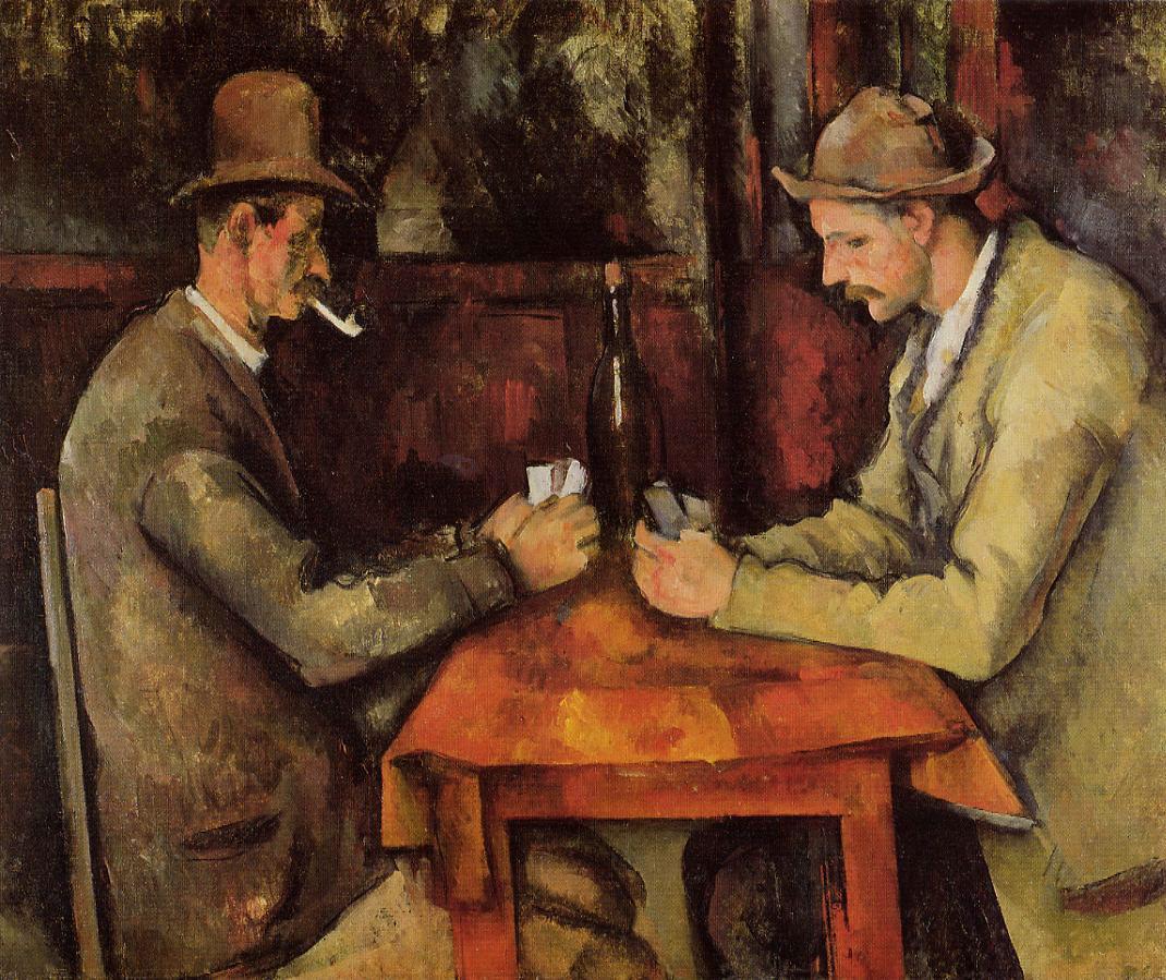 Cézanne - 1895 Los jugadores de cartas