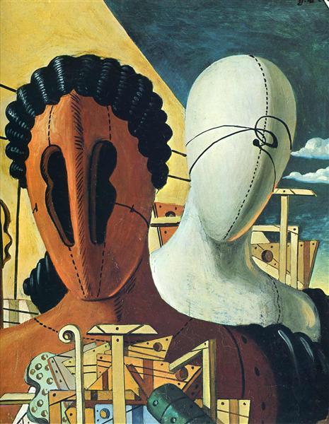 Chirico - 1926 Las dos máscaras