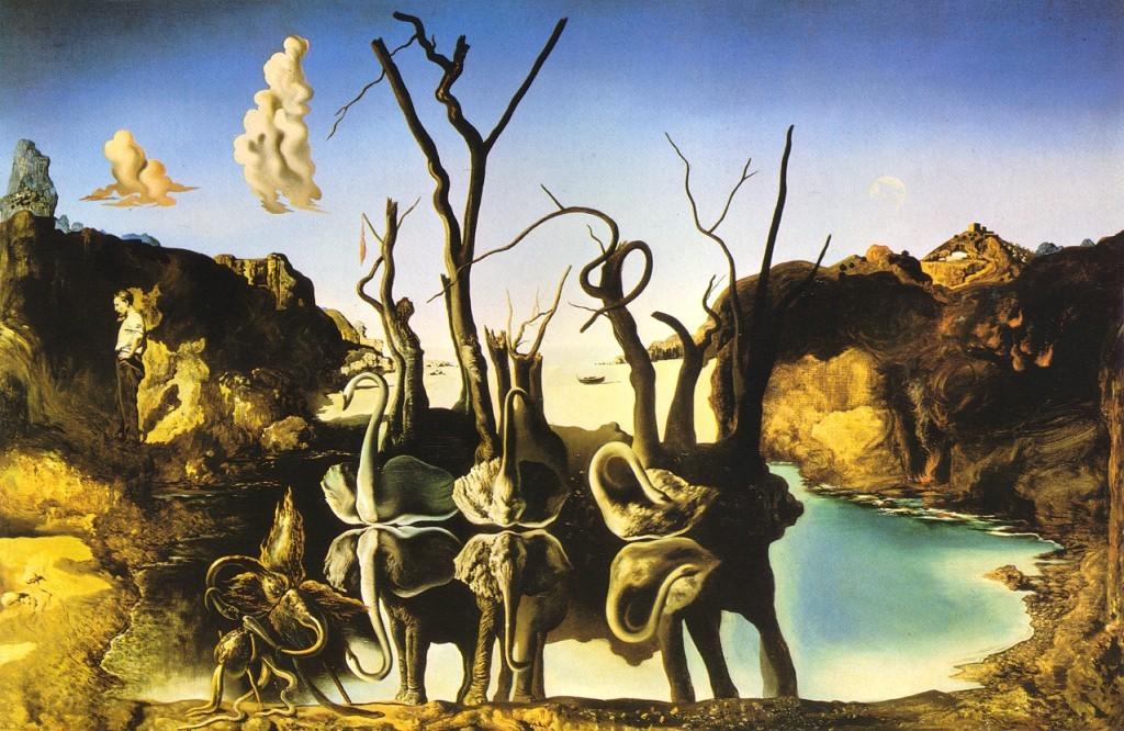 Dalì - 1937 Cisnes que se reflejan como elefantes