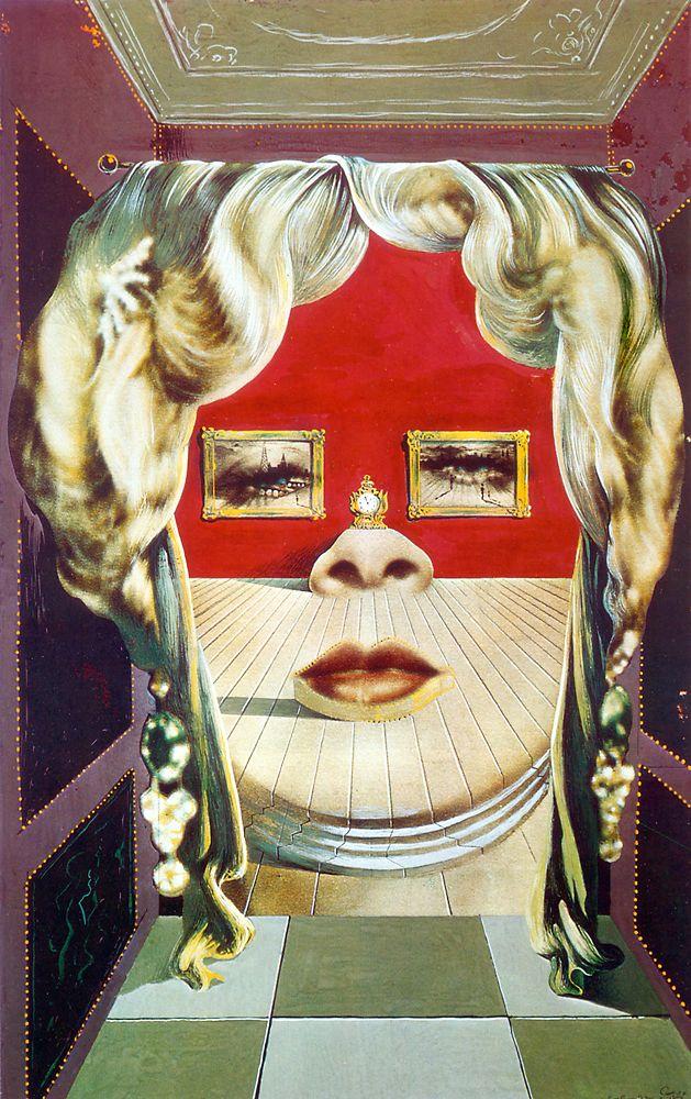 Dalí - 1937 Retrato de Mae West que puede utilizarse como apartamento surrealista