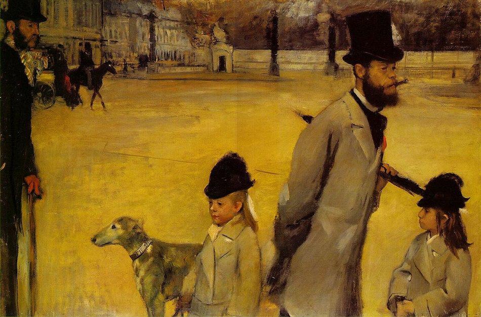 Degas - 1875 Place de la Concorde