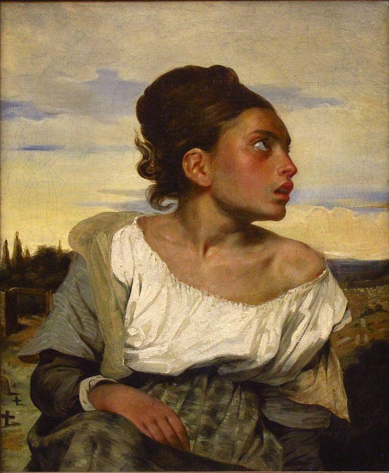 Delacroix - 1824 Joven huerfana en el cementerio