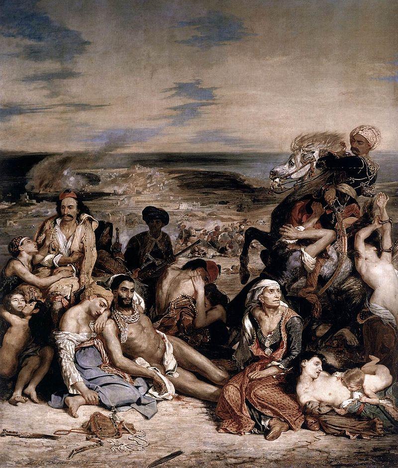 Delacroix - 1824 La matanza de Quíos