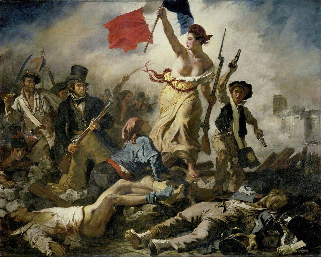 Delacroix - 1830 La libertad guiando al pueblo