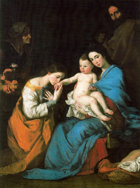 El Españoleto - 1648 La Sagrada Familia con Santa Catalina