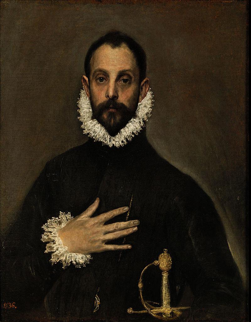 El Greco - 1580 El caballero de la mano en el pecho