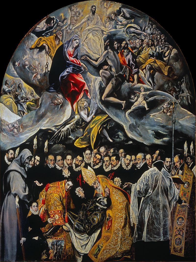 El Greco - 1588 El entierro del Conde Orgaz