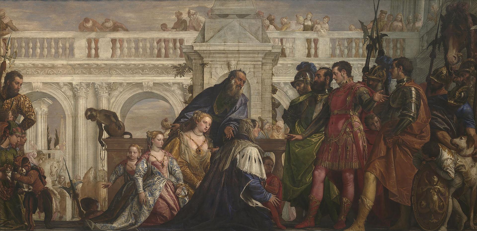 El Veronés - 1567 La familia de Dario ante Alejandro