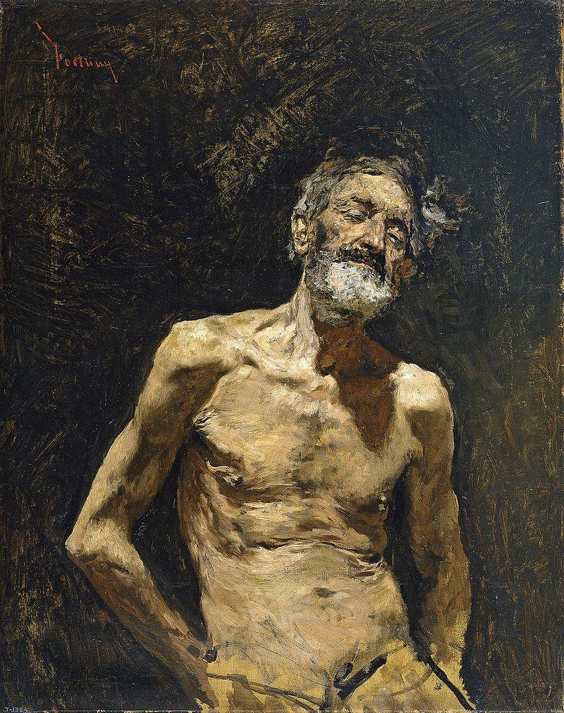 Fortuny - 1871 Viejo desnudo al sol