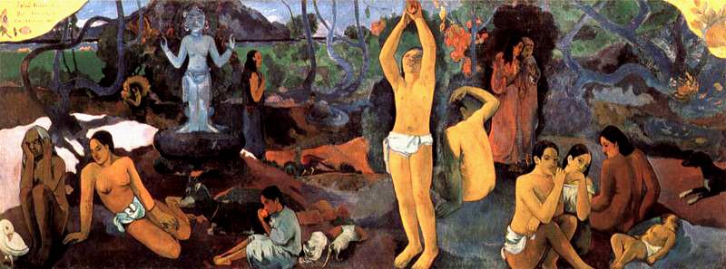 Gauguin - 1897 De dónde venimos, quiénes somos, adónde vamos