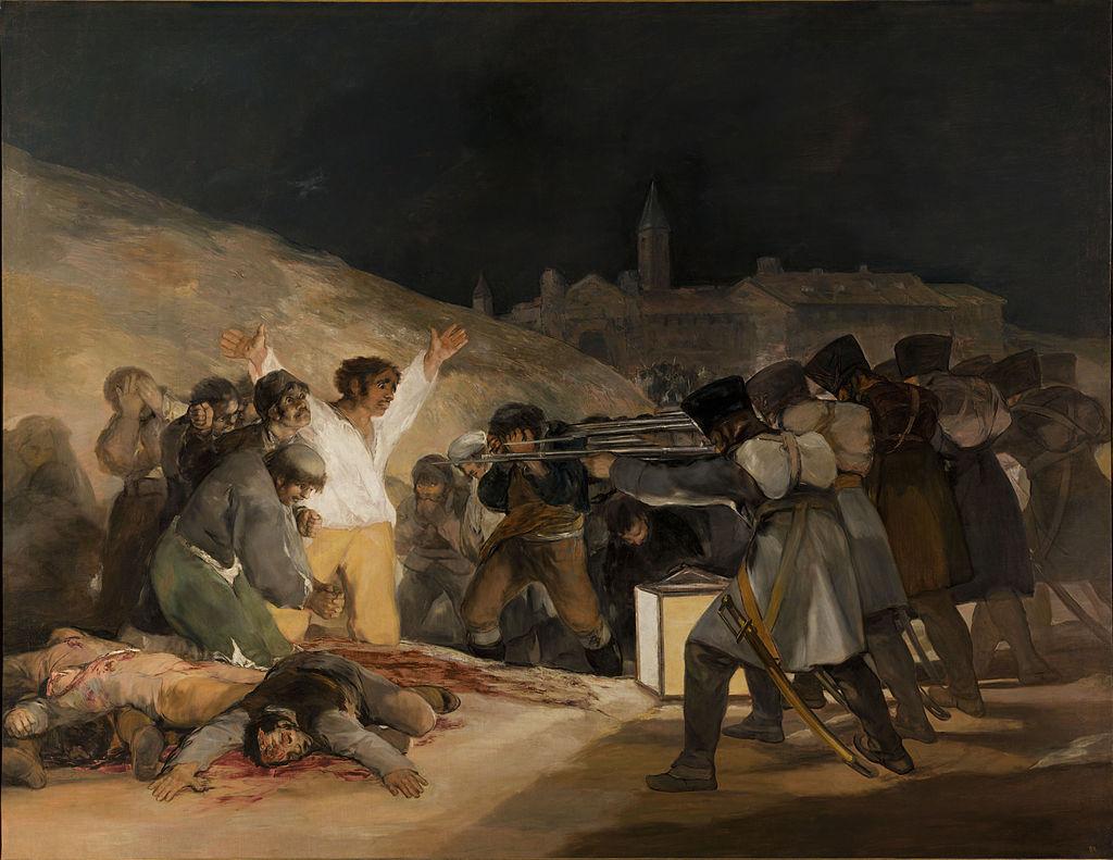 Goya - 1814 El 3 de mayo en Madrid, Los fusilamientos de la montaña del Príncipe Pío