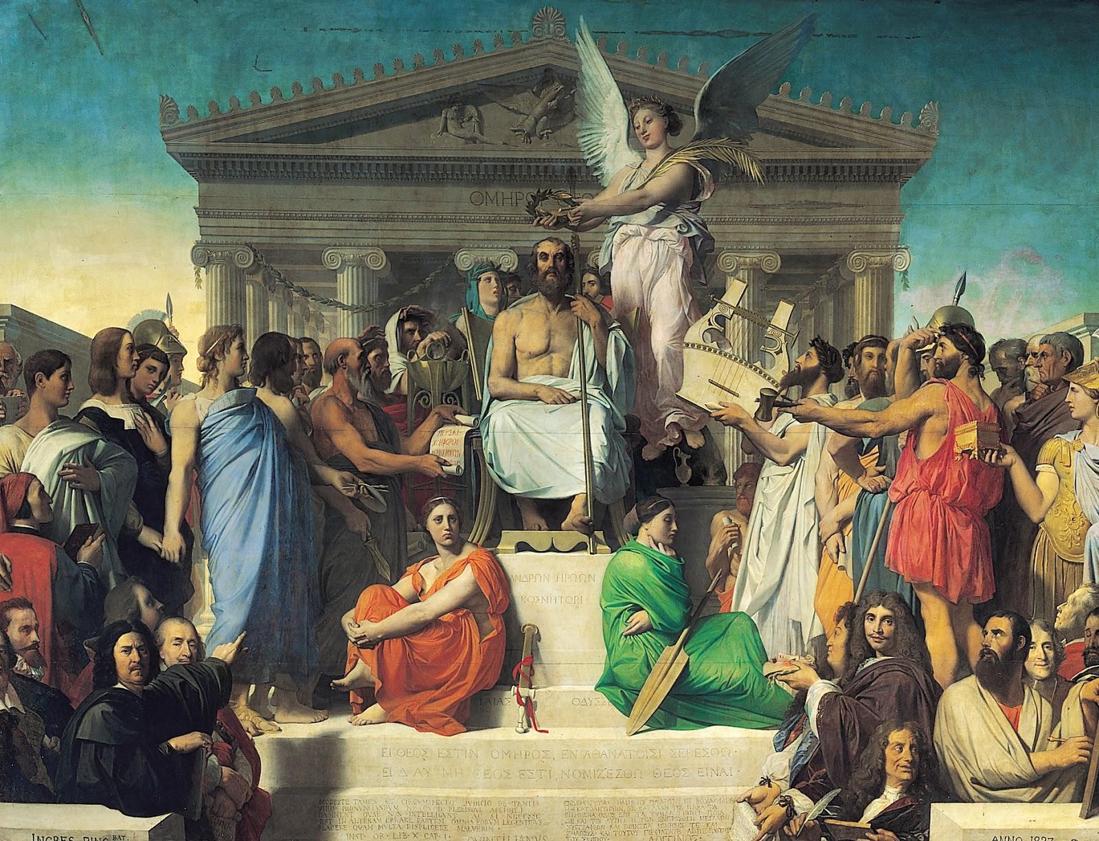 Ingres - 1827 Apoteosis de Homero