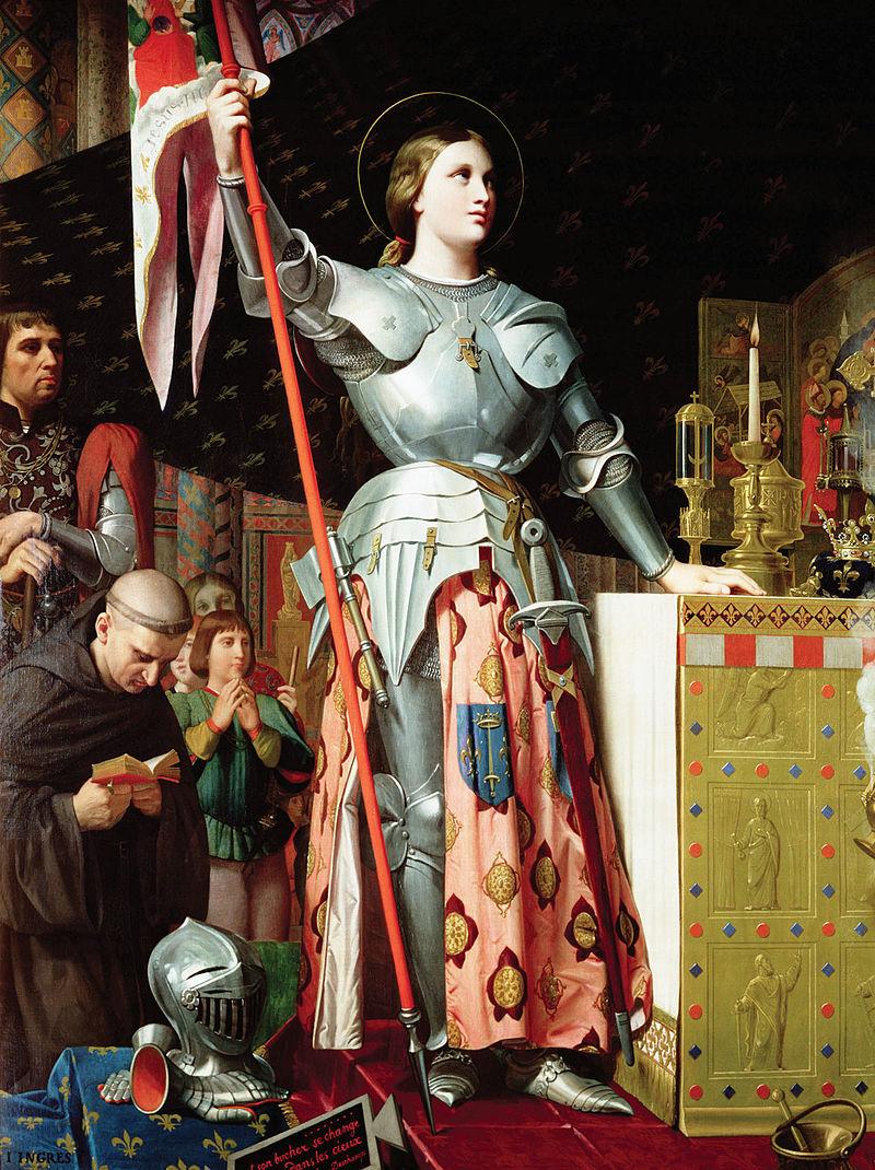 Ingres - 1854 Juana de Arco en la coronación de Carlos VII