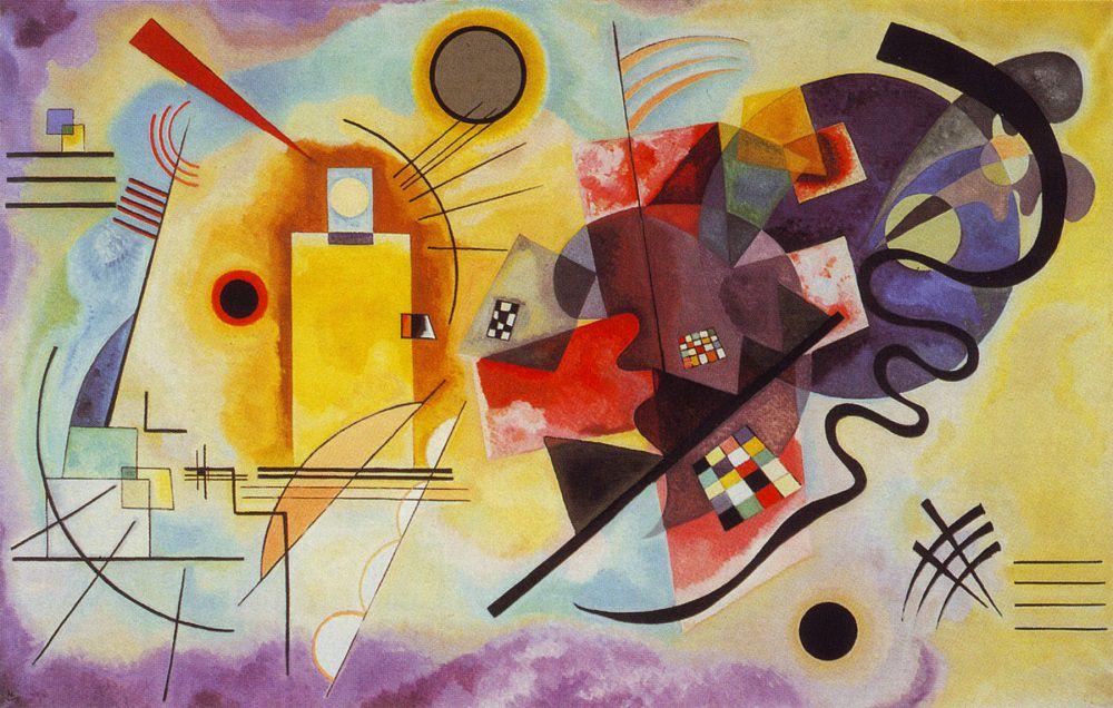 Kandinsky - 1925 Amarillo Rojo Azul