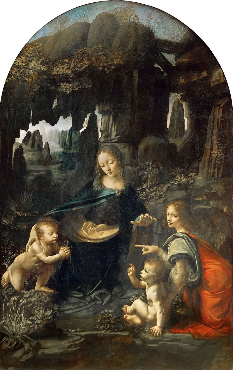 Leonardo - 1483-1486 La virgen de las Rocas