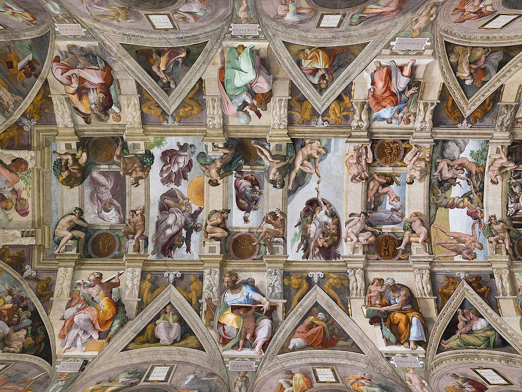 Miguel Ángel - 1508-1512 Bóveda de la Capilla Sixtina