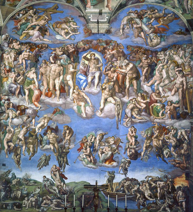 Miguel Ángel - 1535-1541 El juicio final (Capilla Sixtina)