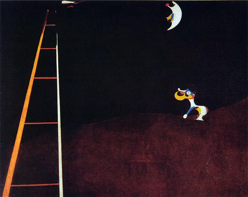 Miró - 1926 Perro ladrando a la luna