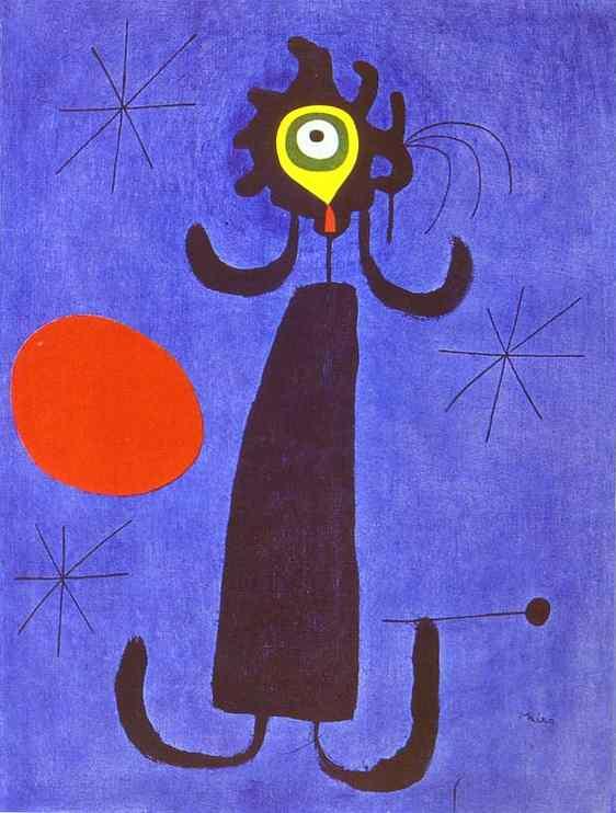 Miró - 1950 Mujer delante del sol