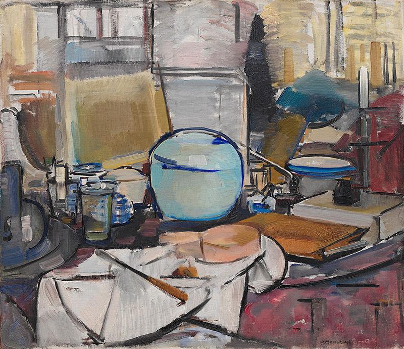 Mondrian - 1911-1912 Bodegón con jarra de jengibre I