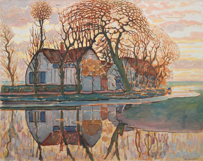 Mondrian - 1916 Granja cerca de Duivendrecht