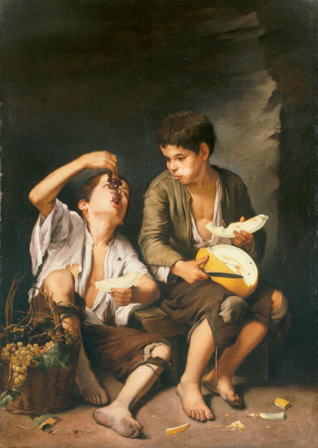 Murillo - 1646 Niños comiendo uvas y melón