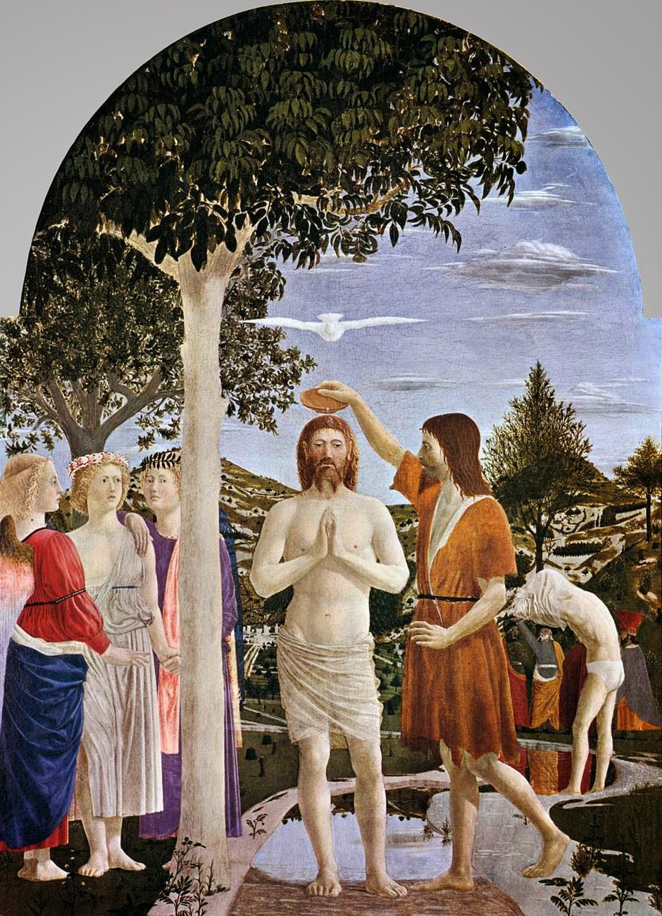 Piero Della Francesca - 1448-1450 El bautismo de Cristo