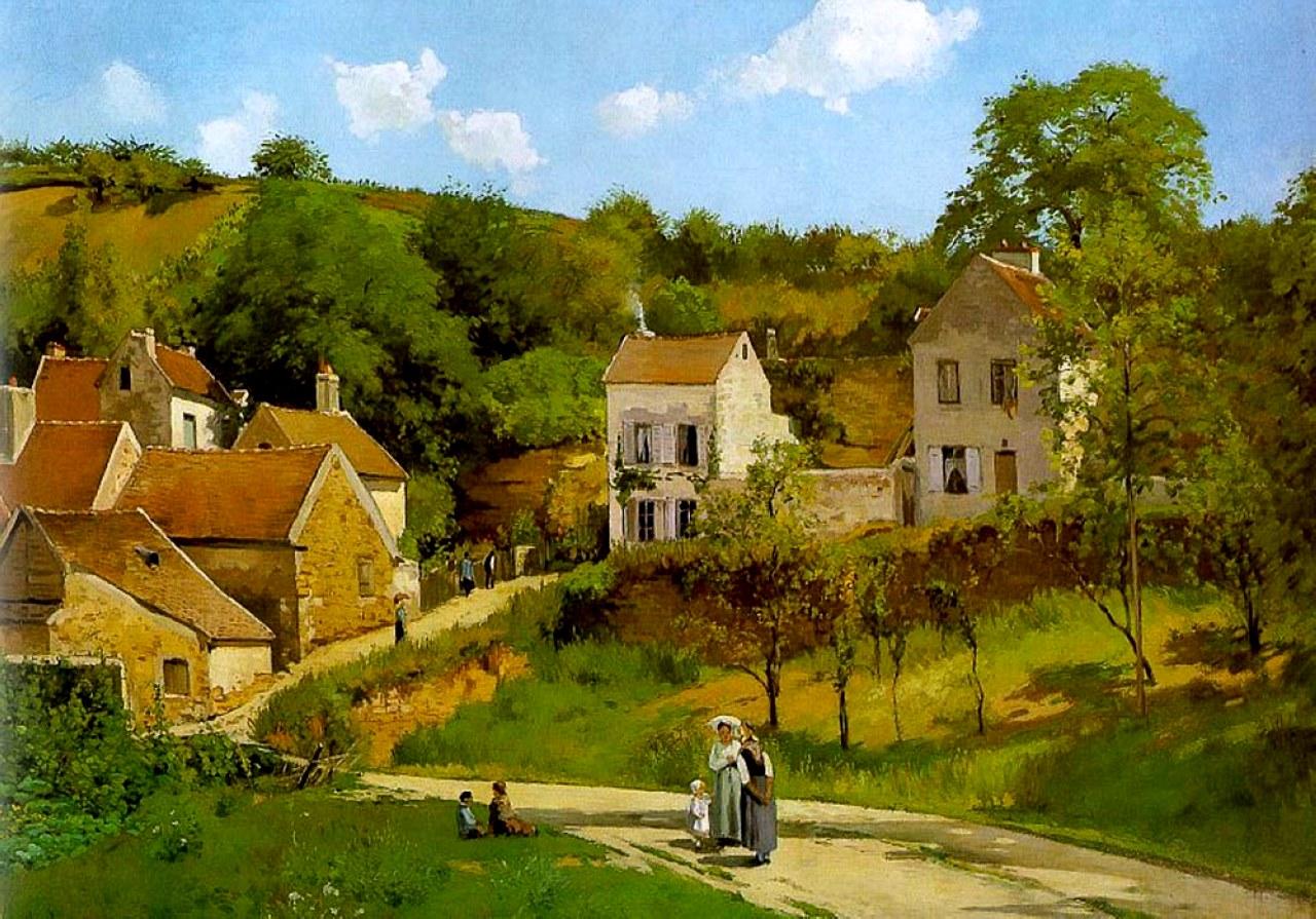Pisarro - 1867 La ermita Pontoise