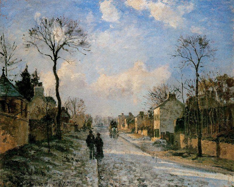 Pisarro - 1872 El camino de Louveciennes
