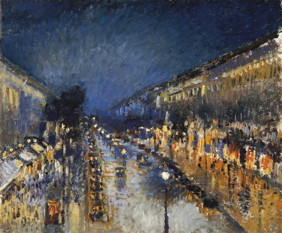 Pisarro - 1897 Boulevard Montmartre de noche