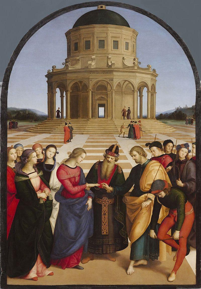 Rafael - 1504 Los desposorios de la Virgen