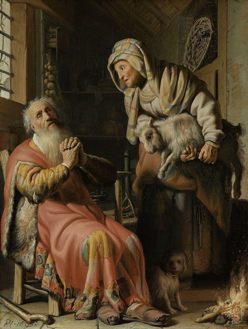 Rembrandt - 1626 Tobías y Ana con el cabrito