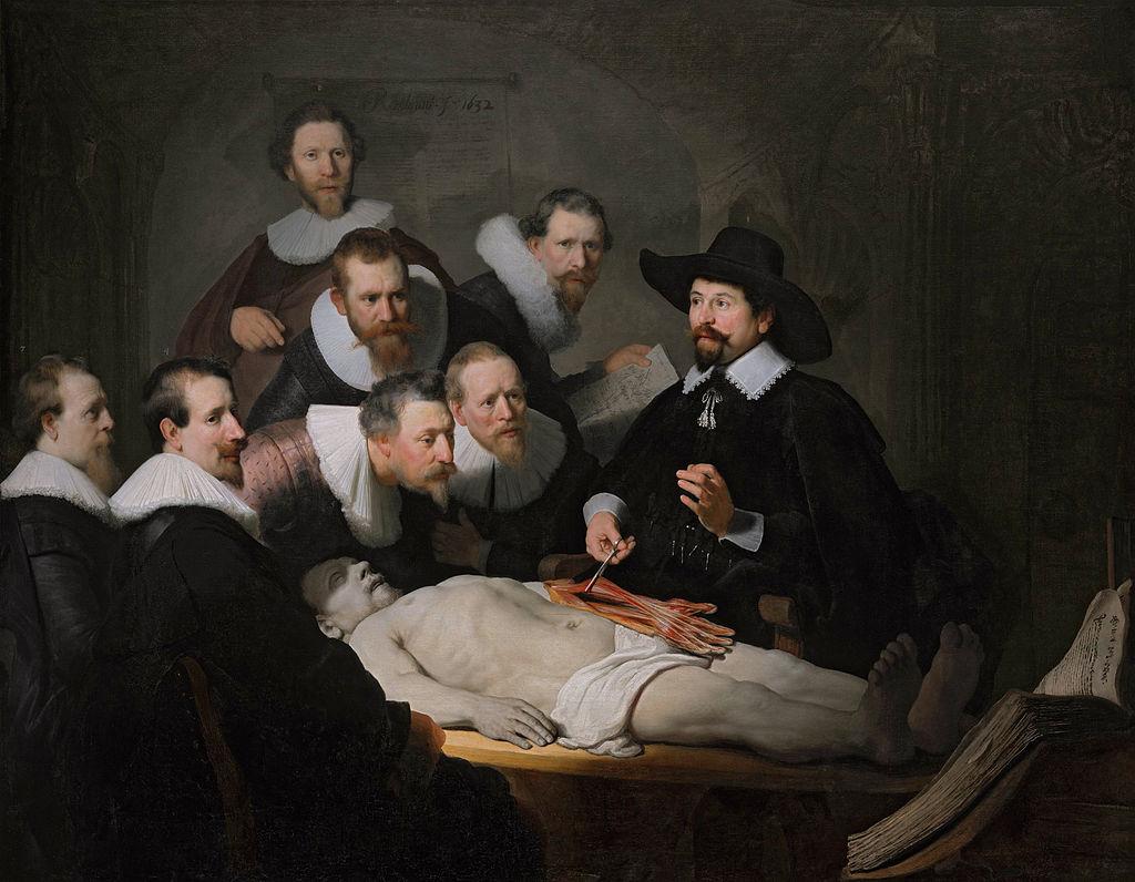 Rembrandt - 1632 La lección de anatomía del Dr Nicolaes Tulp