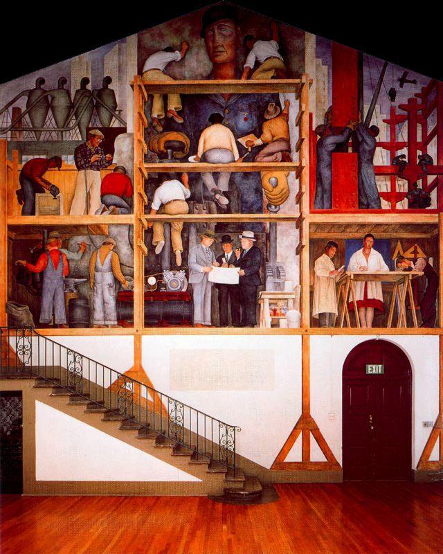 Rivera - 1931 La elaboración de un fresco