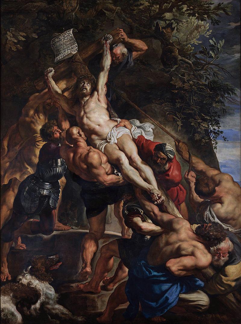 Rubens - 1610-1611 La elevación de la cruz
