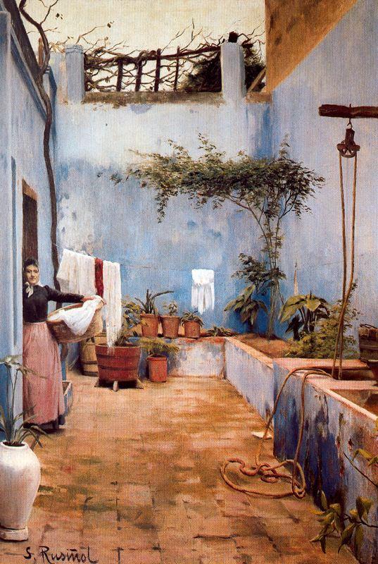 Rusiñol - 1891-1892 El patio azul