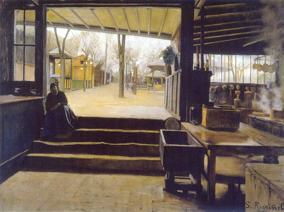 Rusiñol - 1891 Laboratorio de la Galette