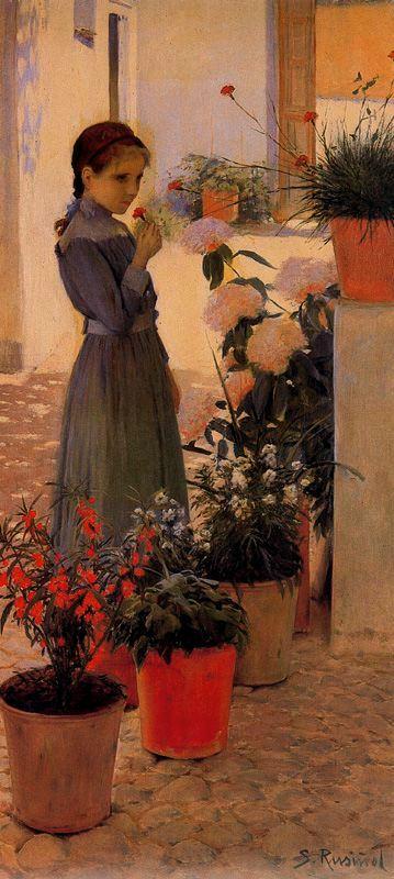 Rusiñol - 1892 La niña de la clavelina