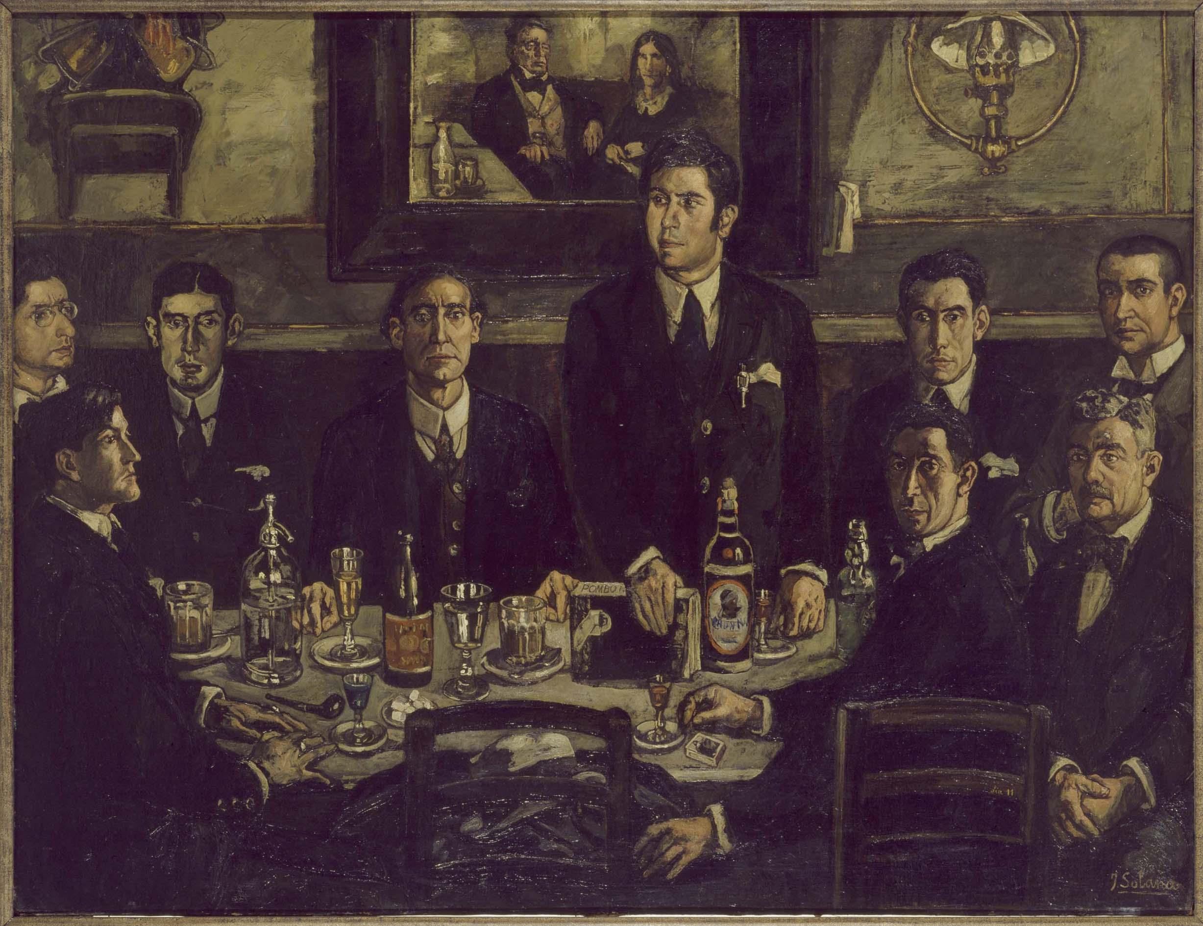 Solana - 1920 La tertulia del Café Pombo