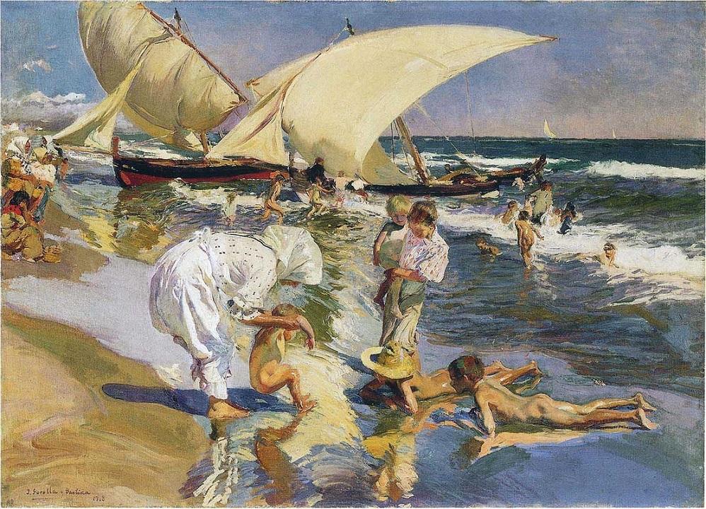 Sorolla - 1908 Playa de Valencia a la luz de la mañana