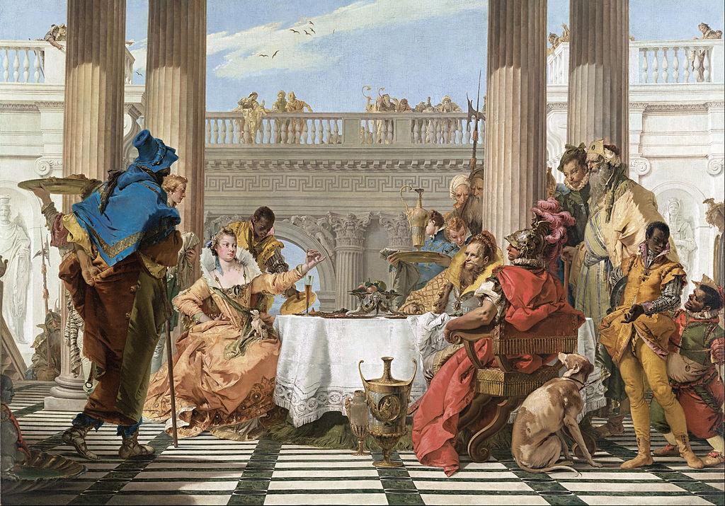 Tiépolo - 1744 El banquete de Cleopatra
